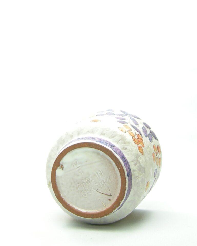 575 – bloempot Marei 12-1 wit-oranje-paars