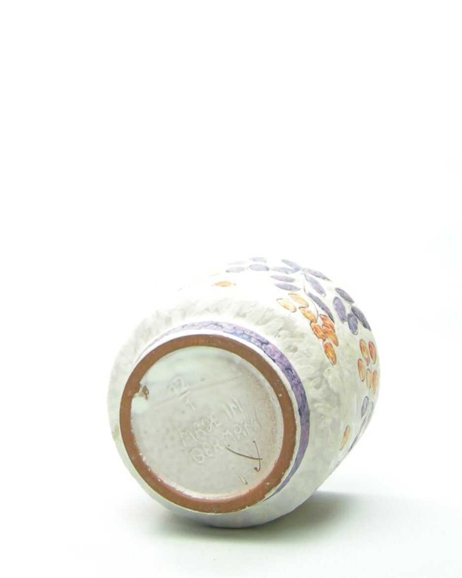 575 - bloempot Marei 12-1 wit-oranje-paars
