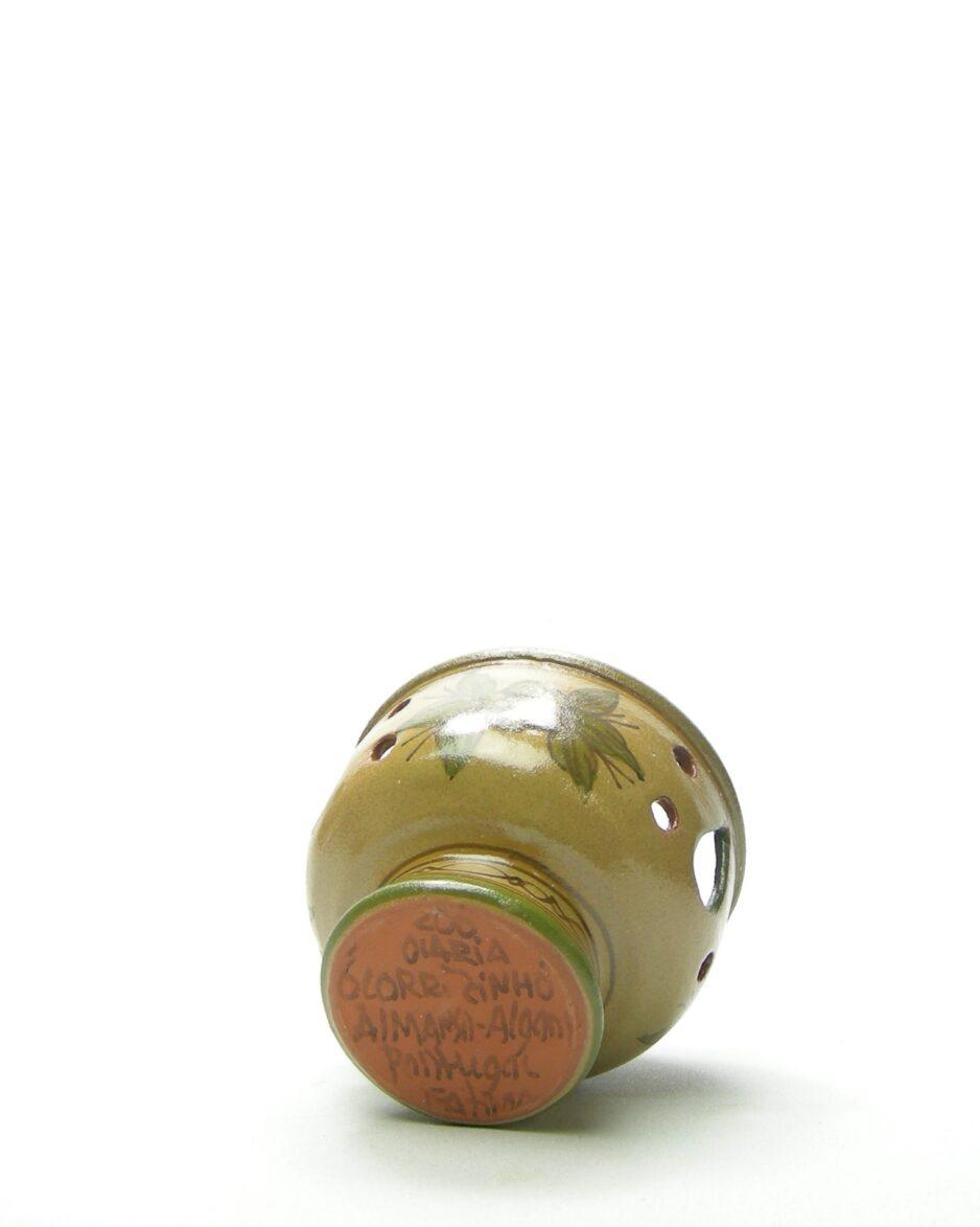 585 - Kandelaar voor kaars/theelicht bruin