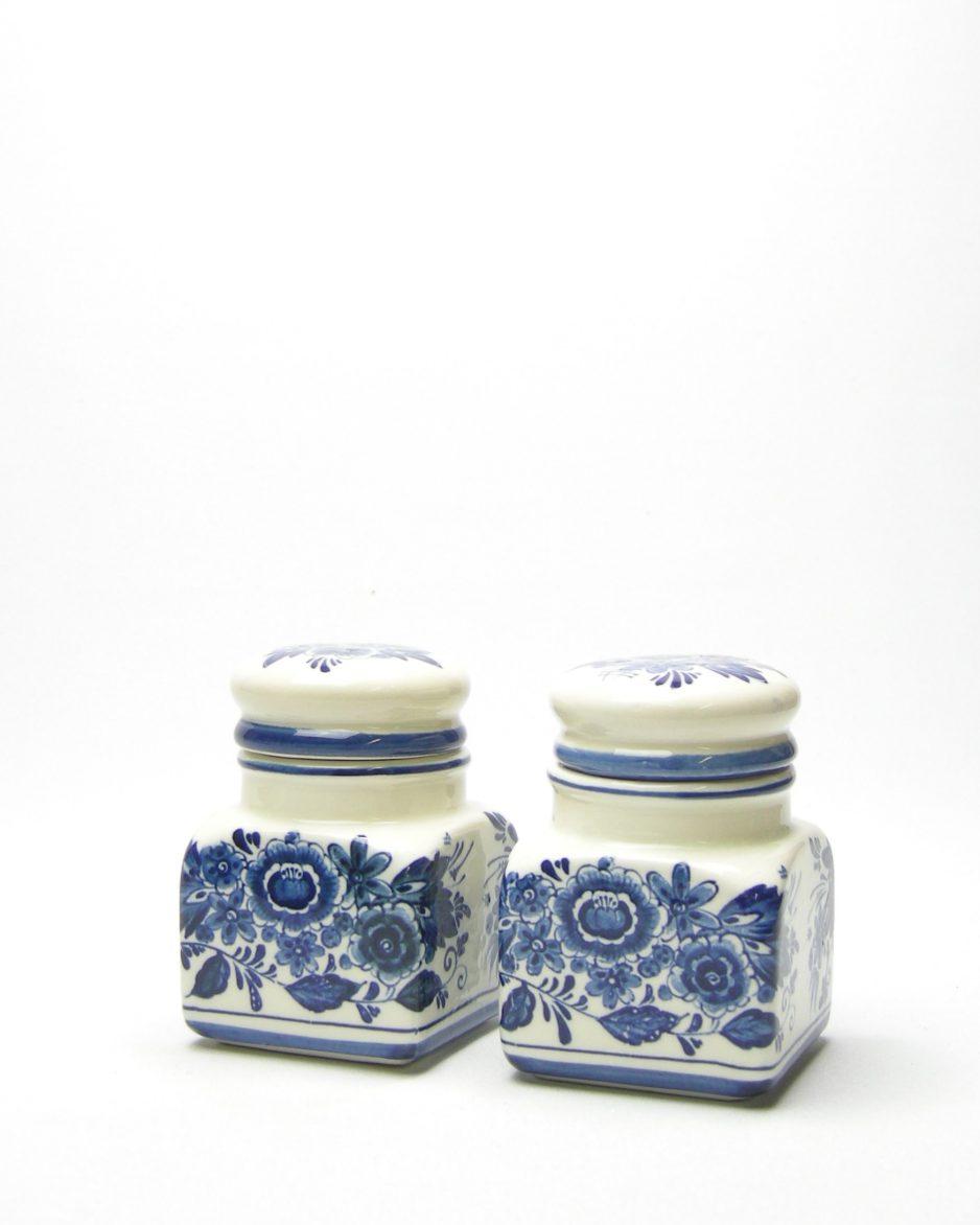 14 - kruidenpotje Royal Delfs blauw handwerk jaren 60