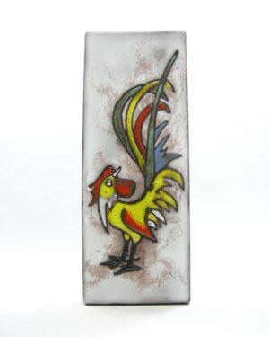 1573 - vintage wandtegel Ruscha 734 haan - rooster