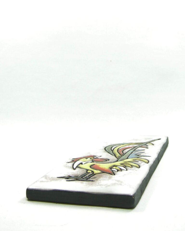 1573 – vintage wandtegel Ruscha 734 haan – rooster