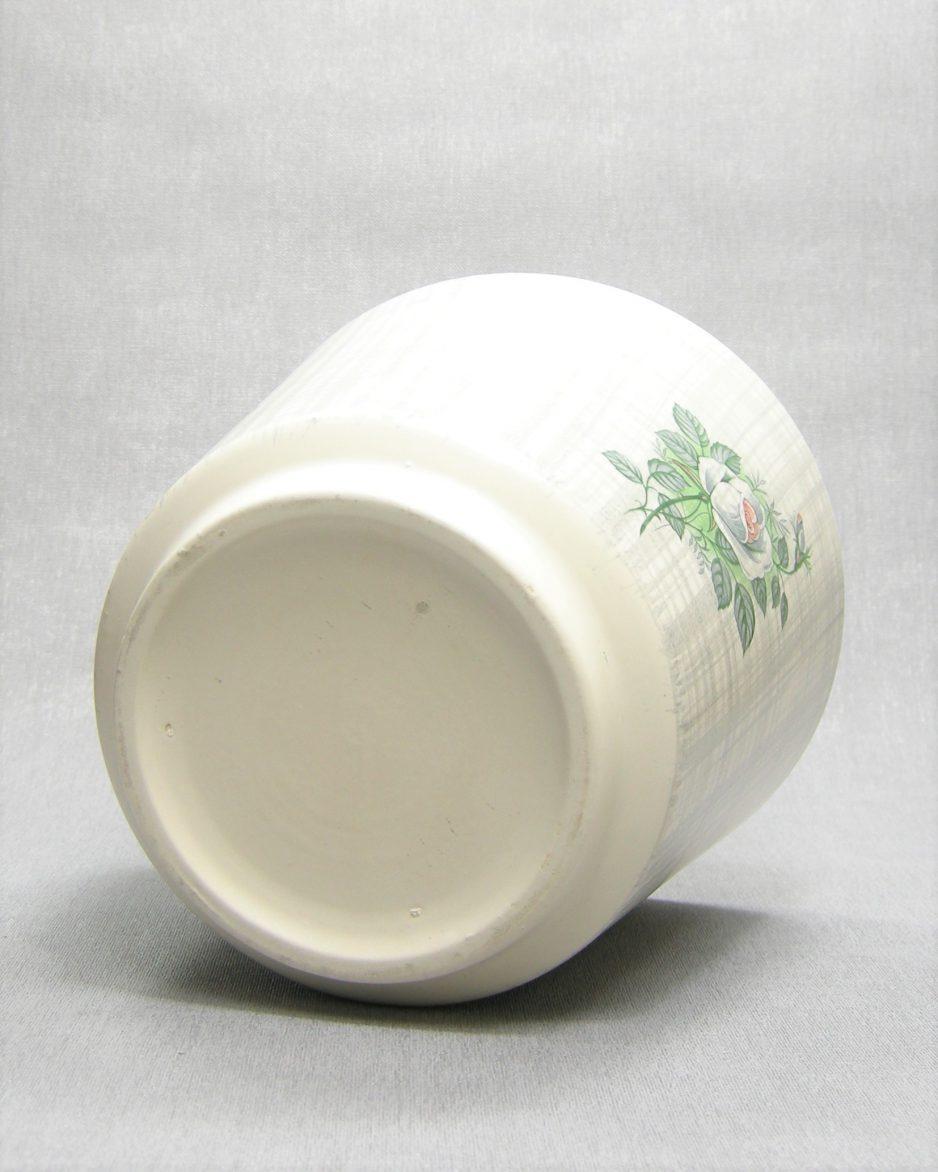 192-bloempot-op-stokjes-gebakken-grijs-creme-geruit-met-roosjes