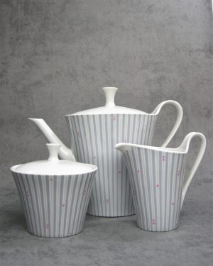 246-koffiepot-suikerpot-en-melkkan-Wunsiedel-Bavaria-Porzellan-grijs-wit-roze