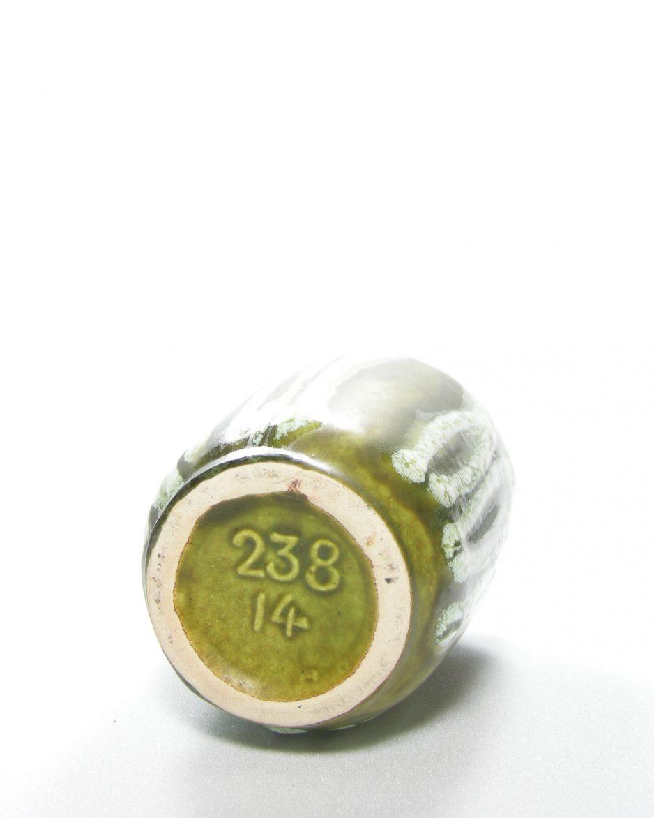 267 - vaas West Germany Scheurich 238-14 groen - wit