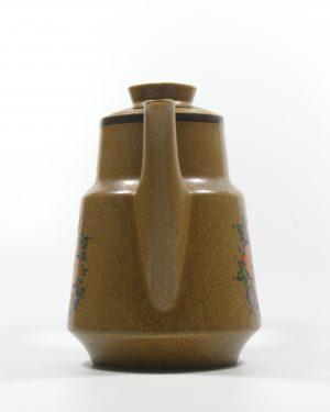 287 – koffie servies met 5 kop en schotels bruin (2)