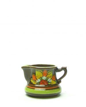 327-melkkannetje Zeller Keramik Sonneblume 4826 bruin