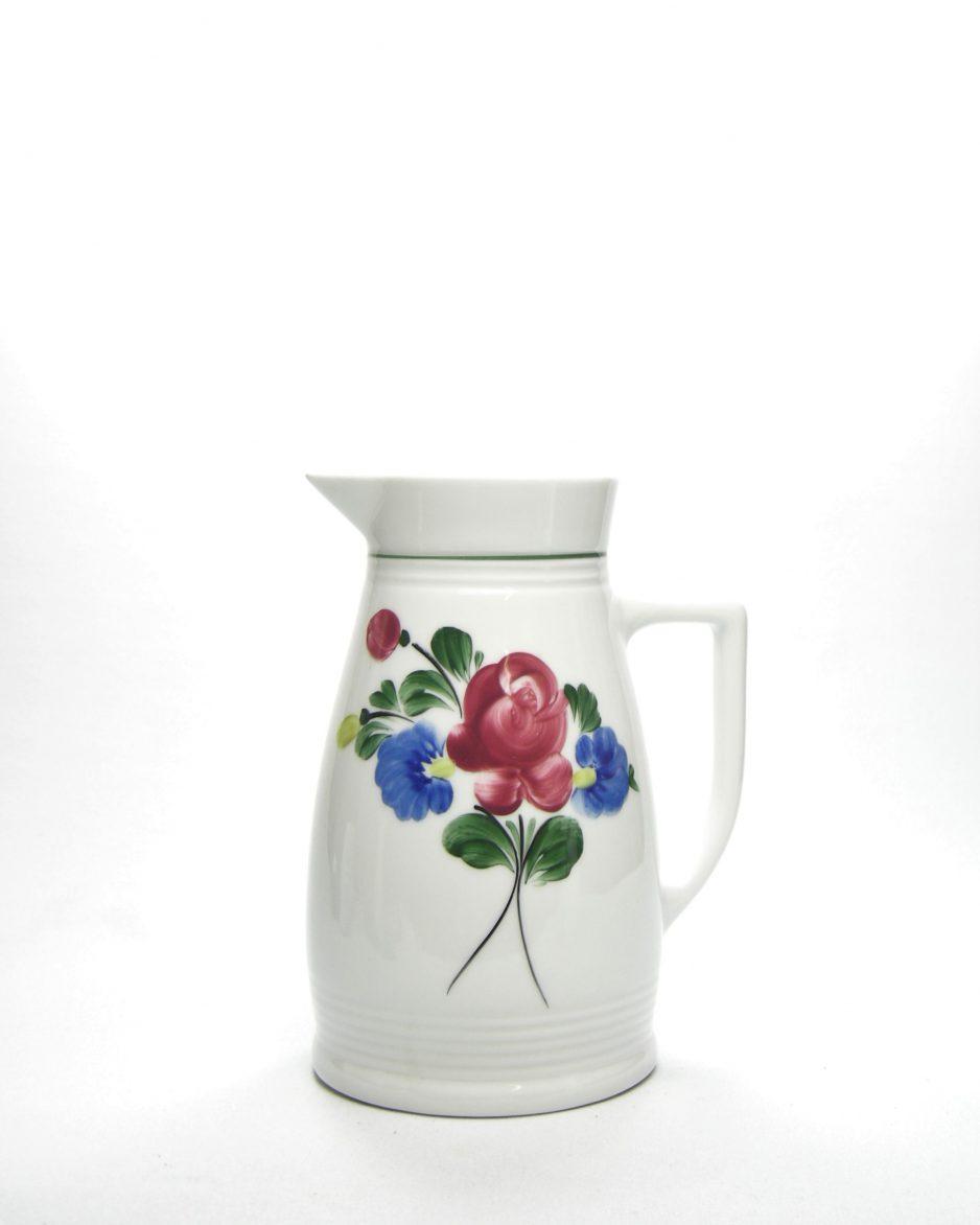 352-pitcher Lilien porzellan Austria handgemalt 100 wit met bloemen