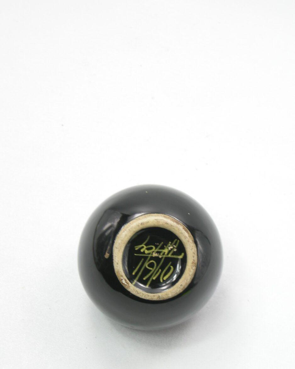 358-Vintage-bloemen-vaasje-zwart