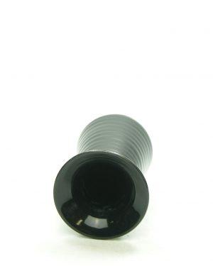361 – vaas op stokjes gebakken zwart – bloempot, bloempotten, bloempotjes, vaas, vazen, vaasjes, vintage, retro, keramiek, aardewerk (3)