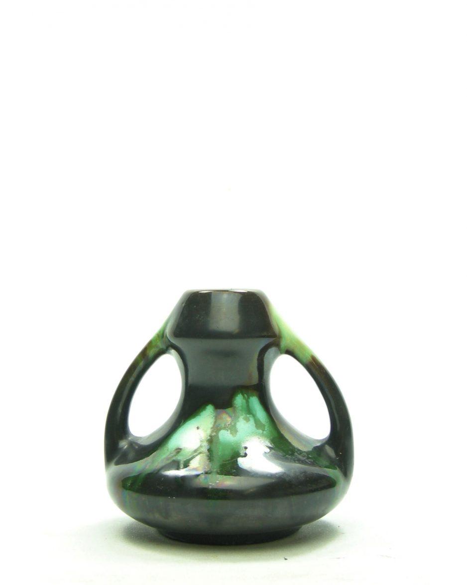 3395 - Vaasje Art Deco Thulin Belgium E2 bruin - groen
