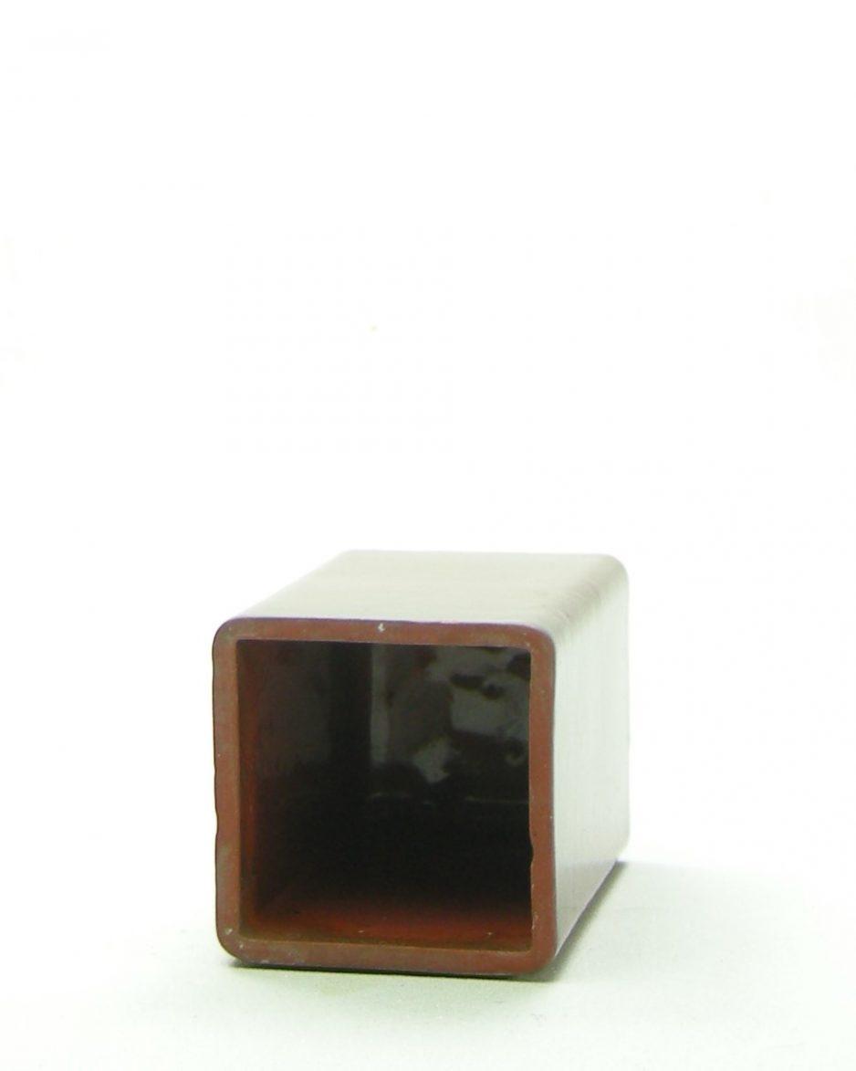 405 - vaasje vierkant bruin