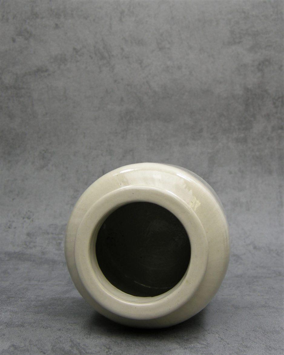 436 - Vintage vaasje pot model beige