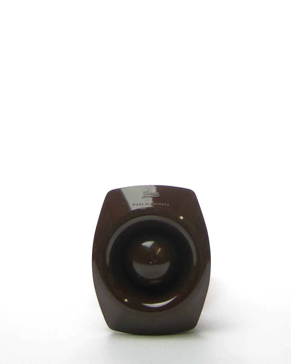 470 - eierdopjes Gerda made in Germany oranje-bruin