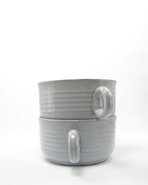 506 – Soepkommen met 1 oor grijs