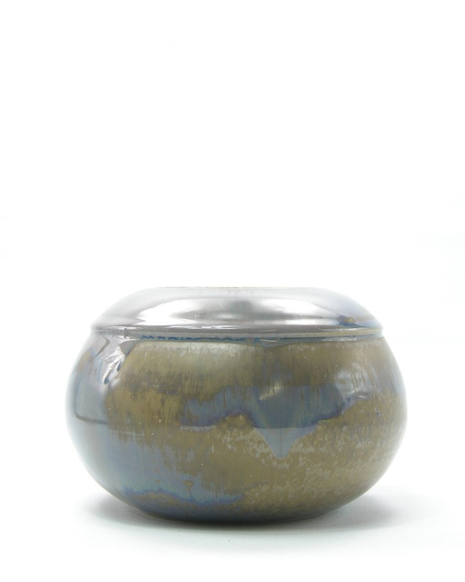 541 - vaas-bloempot blauw-bruin