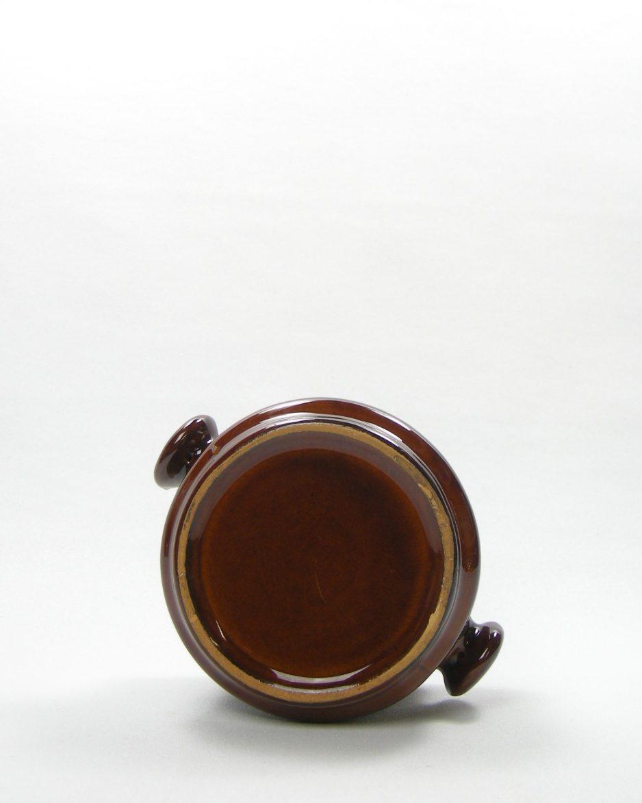 592 - Soepkom met handvatten bruin