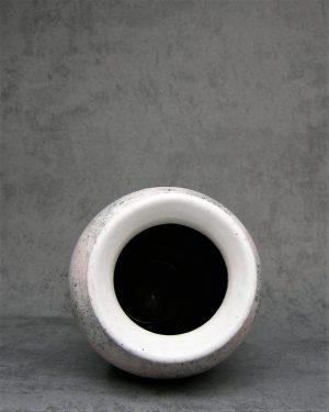 632 – Vintage vaas Scheurich 5112-22 wit-roze-zwart