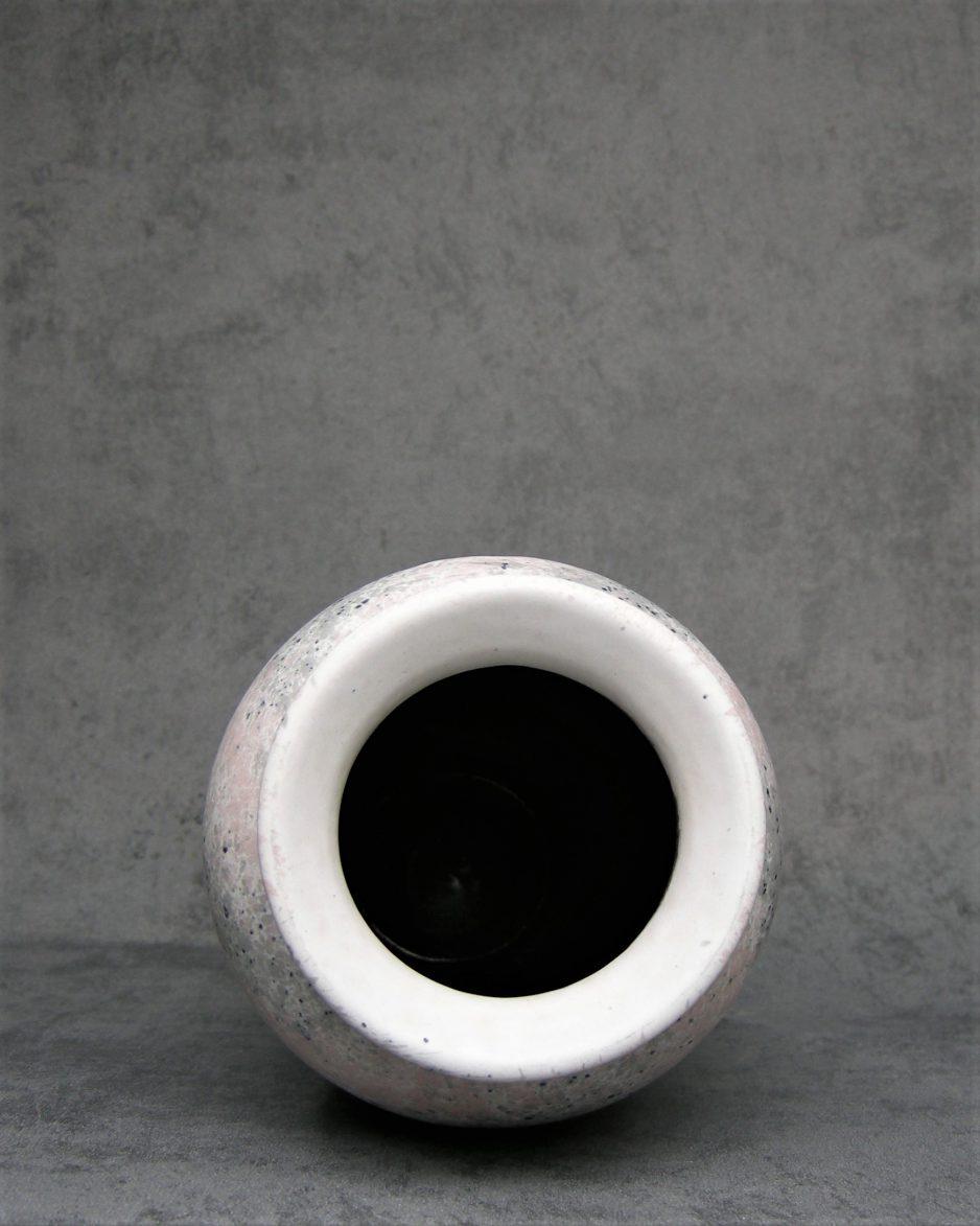 632 - Vintage vaas Scheurich 5112-22 wit-roze-zwart