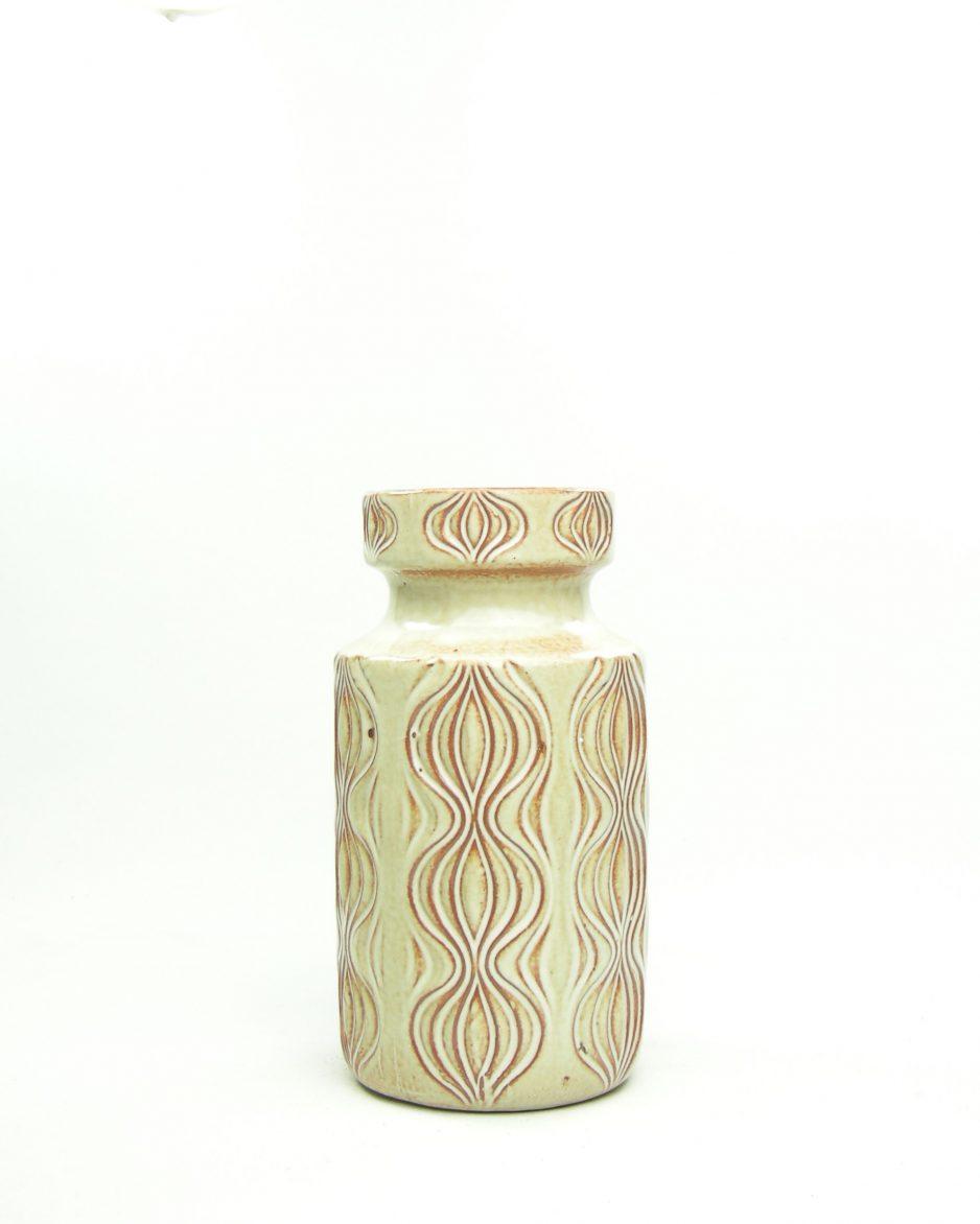 636 - Vintage vaas Scheurich 285-18 Amsterdam decor bruin