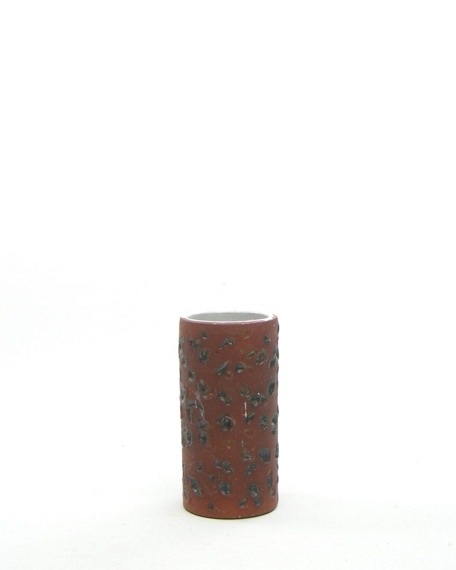 637 - Vintage vaasje berkenbast rood-bruin
