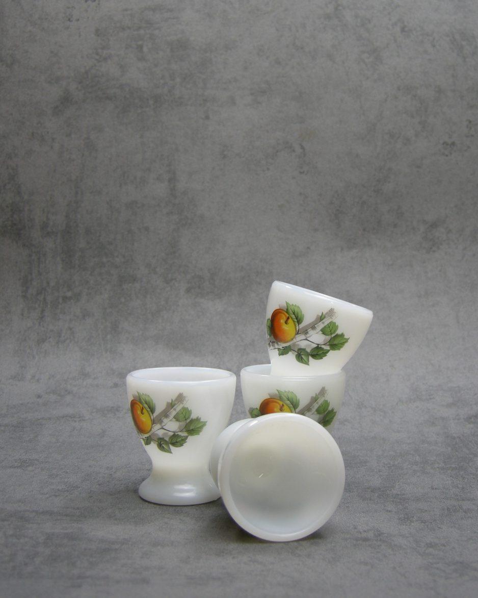 Eierdopjes Acropal France glas wit