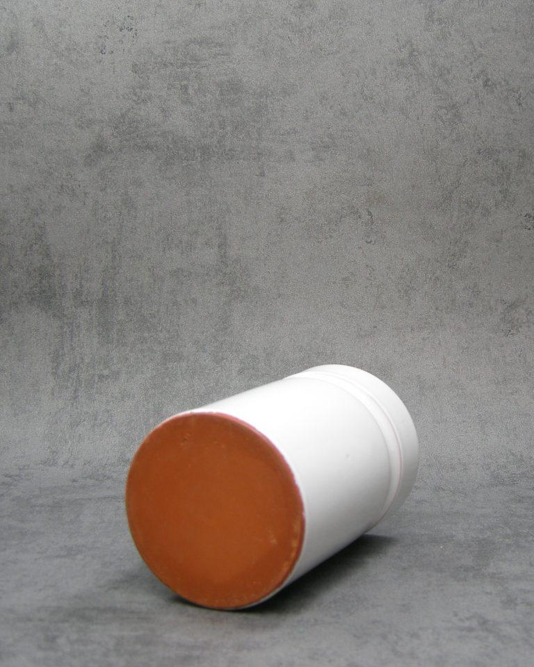 642 – Vintage bloempot cilinder model wit