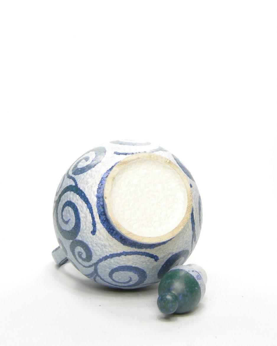 661 - pitcher met motief blauw