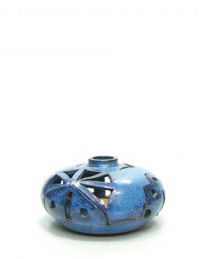 663 - Kandelaar voor waxinelichtje blauw