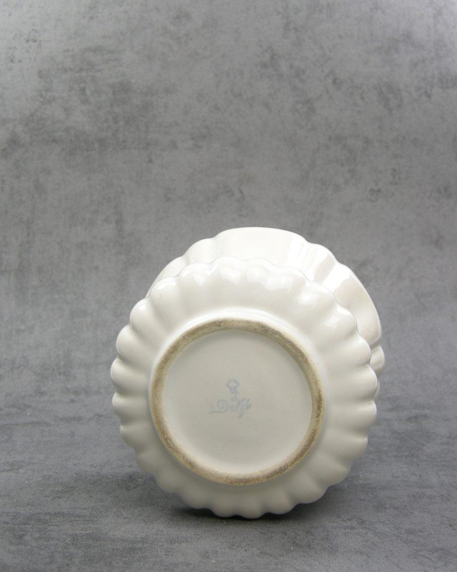670 - Vintage bloempot Delft wit