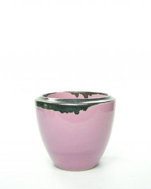 686 – bloempot met donkere rand roze
