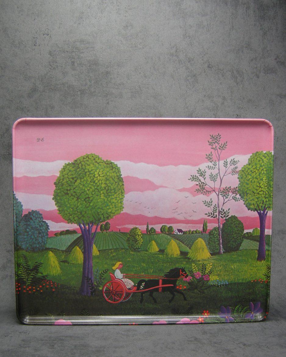 698 - dienblad Mebel V3 made in Italy roze-groen