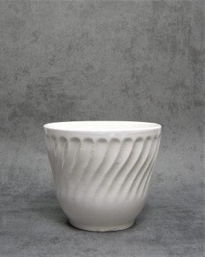 70 – bloempot op stokjes gebakken wit (2)