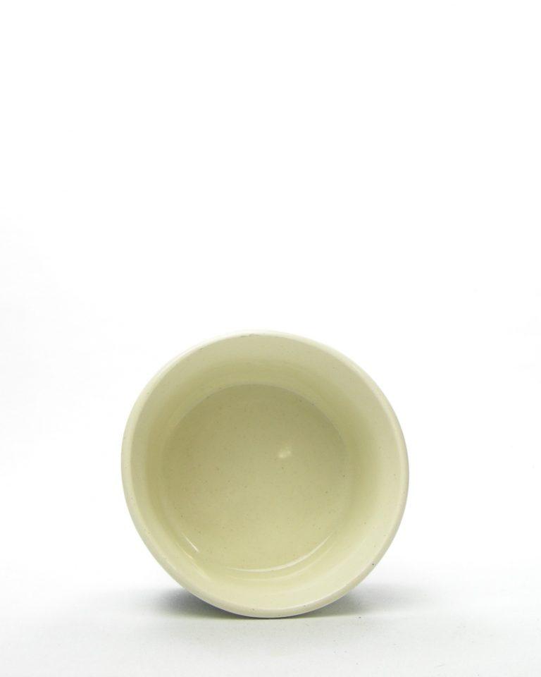 703 – potje met deksel Wloclawek Poland 602 crème met bloemen