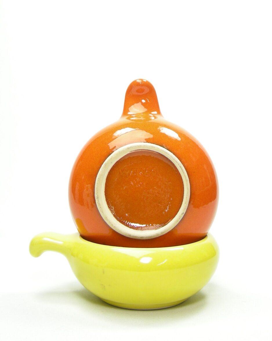 603 - soepkommen WB 655 oranje en geel