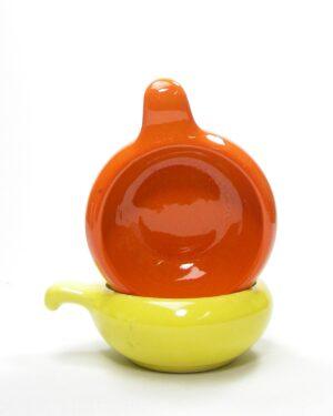 603 – soepkommen WB 655 oranje en geel