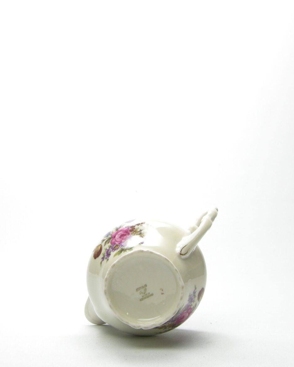630 - kannetje Epiag wit met bloemen