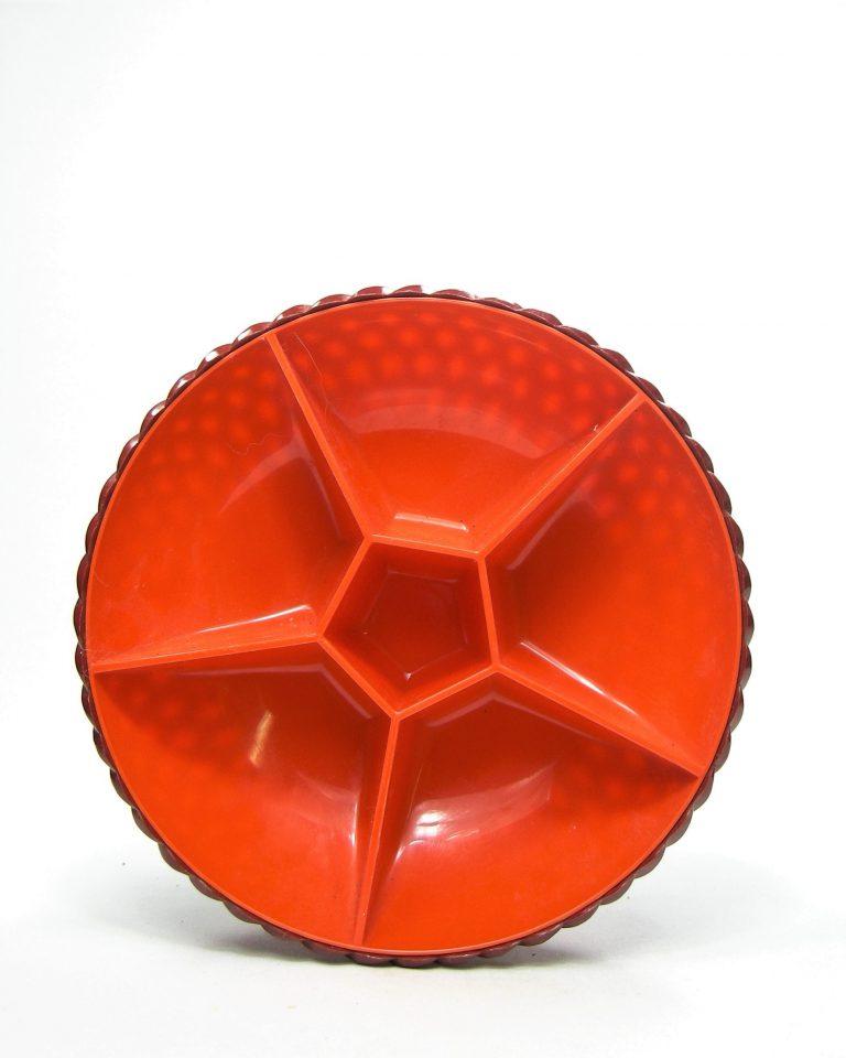 781 – kunststof snackschaal Emsa  bruin – oranje