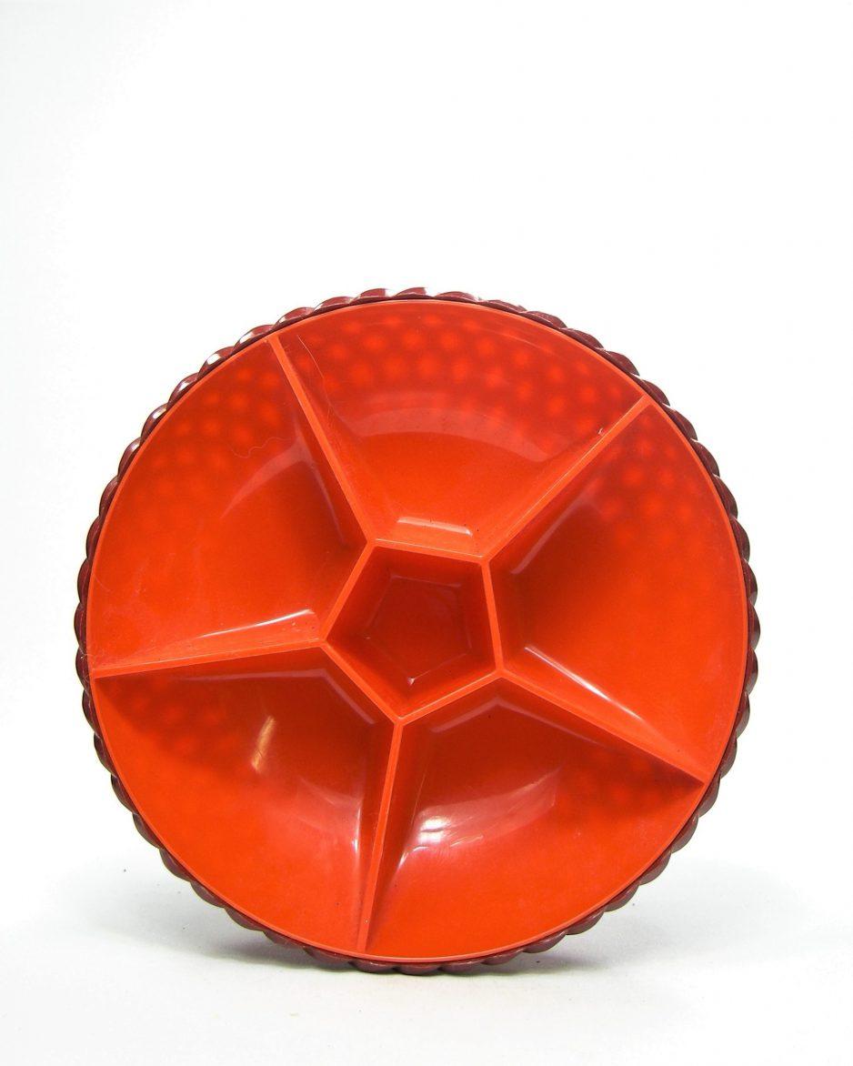 781 - kunststof snackschaal Emsa bruin - oranje
