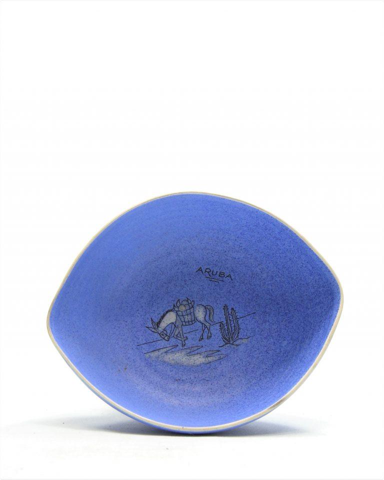 782 – pinda set ARUBA hand geschilderd blauw (2)