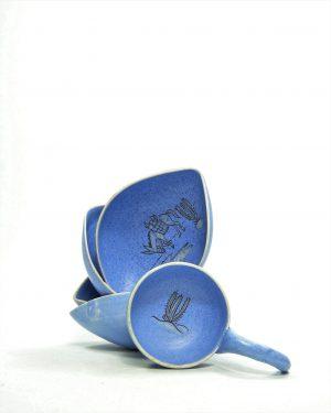 782 – pinda set ARUBA hand geschilderd blauw (4)