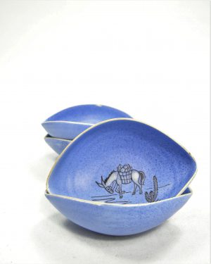 782 – pinda set ARUBA hand geschilderd blauw (5)