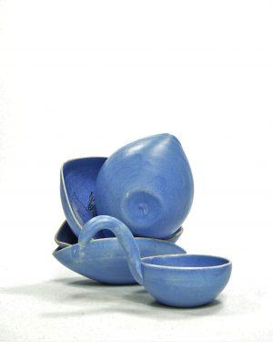 782 – pinda set ARUBA hand geschilderd blauw (7)