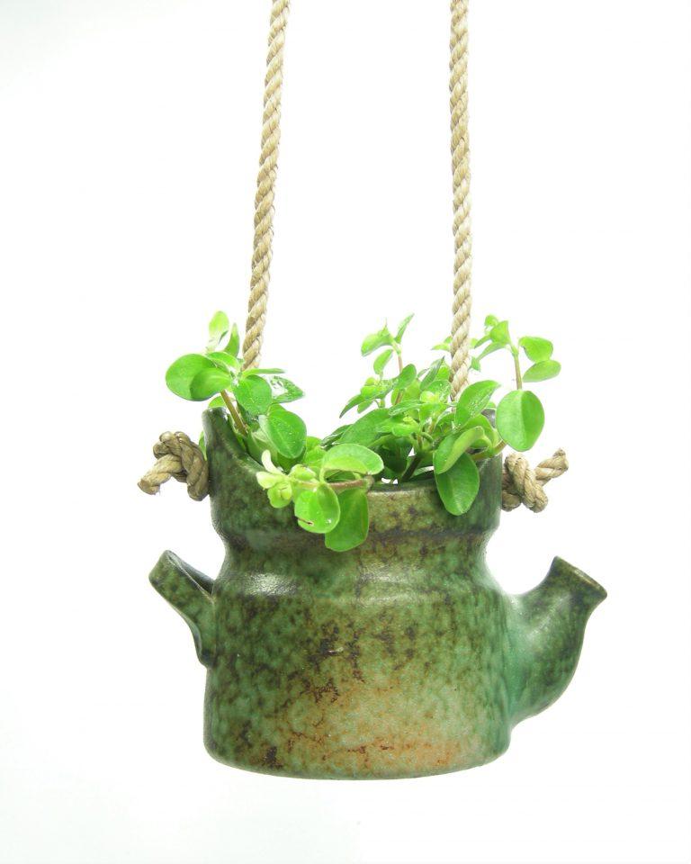783 – hang bloempot Theepot groen (2)