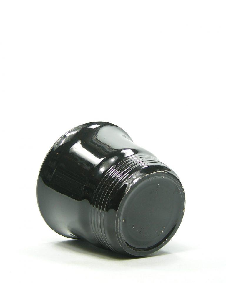 809 – bloempot op stokjes gebakken zwart (6)
