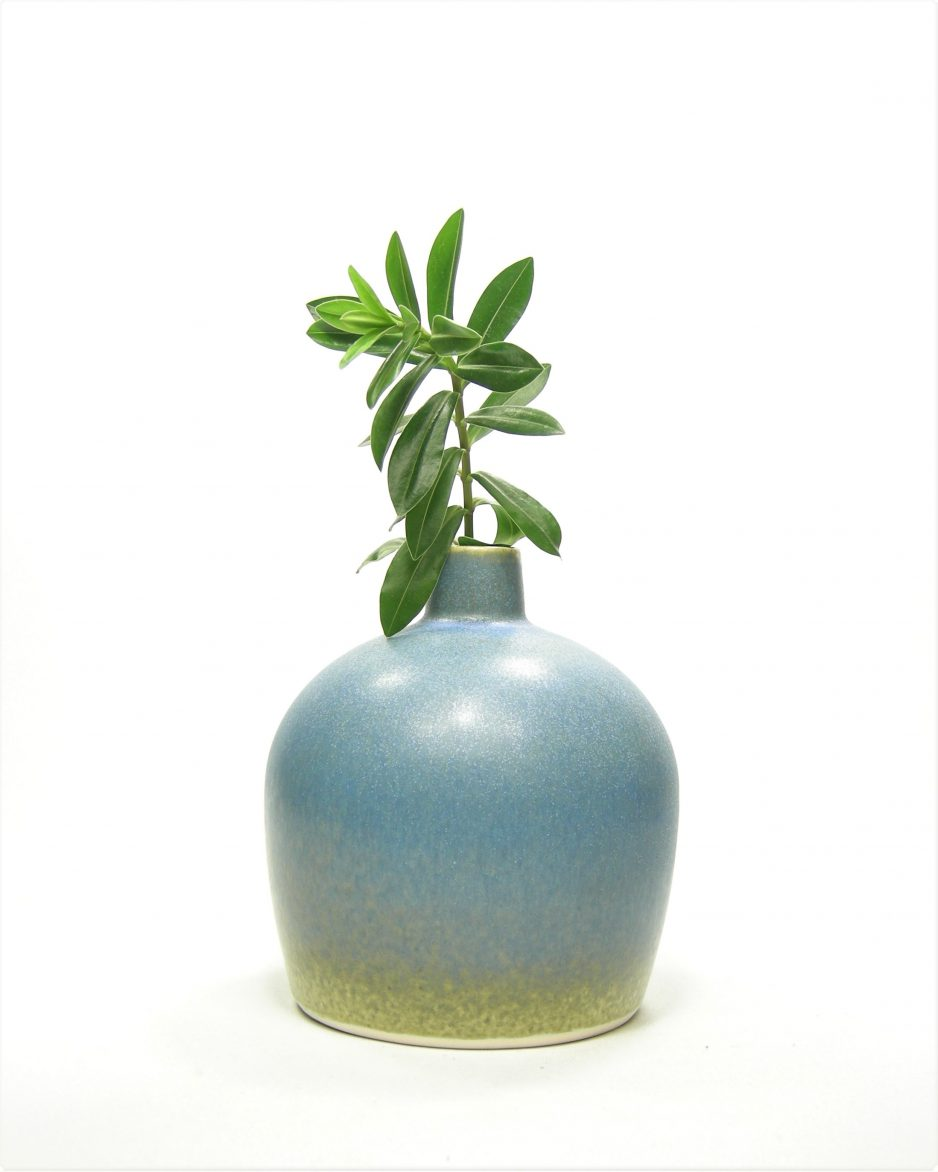 828 - vaas 'KITTY' blauw - groen