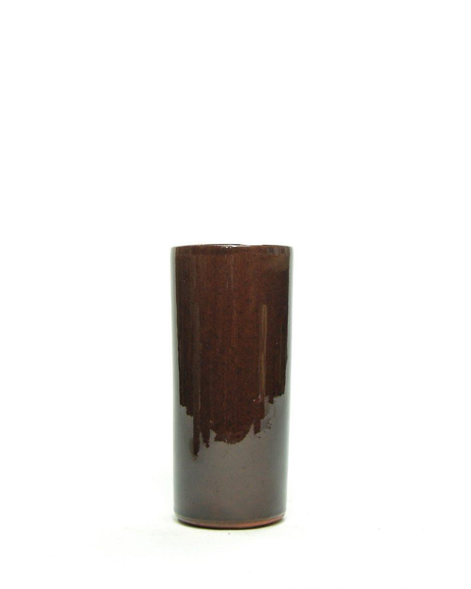 833 - vaas met cilindervorm bruin