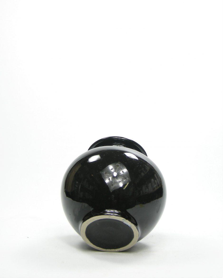 842 - bol vaasje zwart