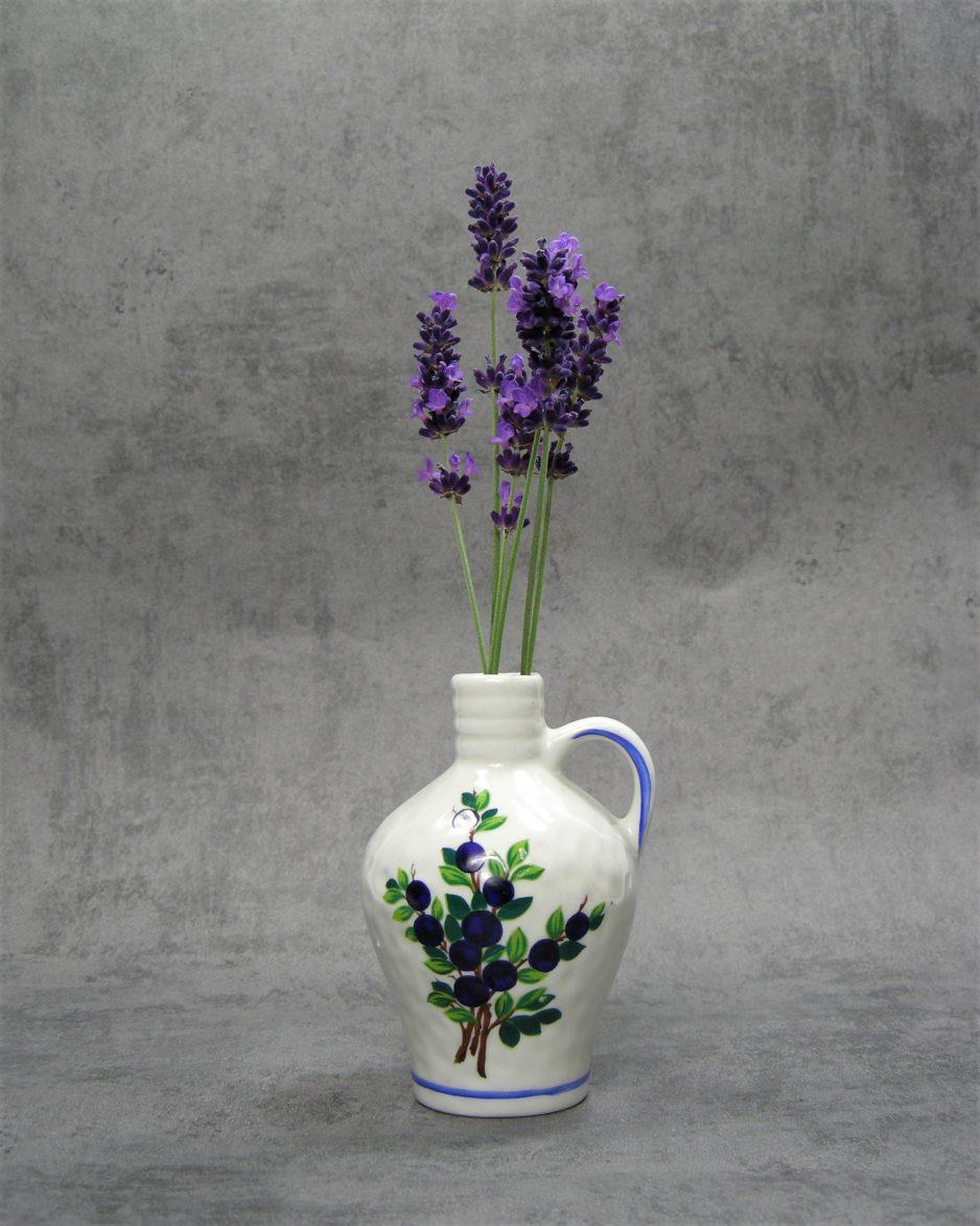 858 - vaasje met bloemen wit