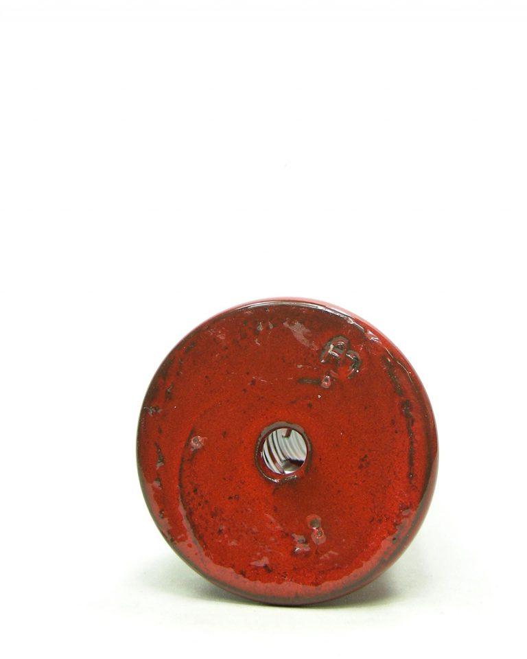 867 – kandelaar AJ op stokjes gebakken rood